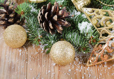 The christmas decorative border Royalty Free Stock Photos