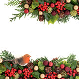 Christmas Decorative Border Stock Photo