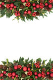 Christmas Decorative Border stock images