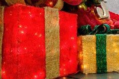 Christmas decorative boxes Stock Photography