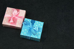 Christmas decorative boxes Royalty Free Stock Images