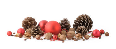 Christmas decorative composition Royalty Free Stock Images