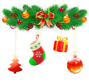 Christmas decorative composition Stock Photo