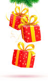Christmas decorative composition Stock Images