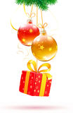 Christmas decorative composition Stock Photos