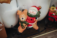 Christmas Decorative Composition With Snowman Stock Image