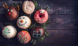 Christmas decorative donuts Stock Image