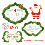 Christmas decorative elements Royalty Free Stock Image