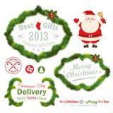 Christmas decorative elements. Fir tree. Vector illustration Royalty Free Stock Image