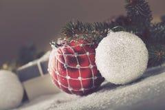 Christmas decorative elements Royalty Free Stock Photos