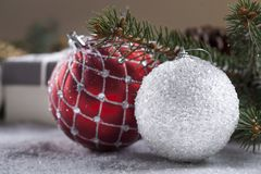 Christmas decorative elements Stock Image