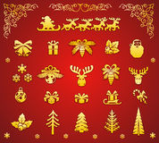 Christmas decorative elements Royalty Free Stock Photo