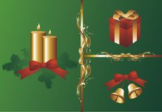 Christmas decorative elements  illustration Stock Image