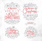 Christmas decorative elements Royalty Free Stock Images