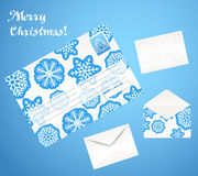 Christmas decorative envelopes Royalty Free Stock Photo