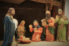 Christmas decorative figures royalty free stock photos
