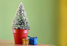 Christmas decorative fir tree Stock Photography