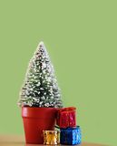 Christmas decorative fir tree Royalty Free Stock Photos