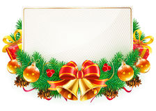 Christmas decorative frame Royalty Free Stock Image
