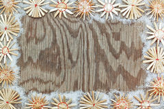 Christmas decorative frame texture. Royalty Free Stock Image