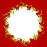 christmas decorative frame wreath Στοκ φωτογραφία με δικαίωμα ελεύθερης χρήσης