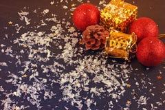 Christmas decorative gift box, ball Stock Photo