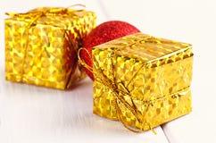Christmas decorative gift box, ball Stock Image