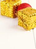 Christmas decorative gift box, ball Stock Images