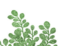 Christmas decorative green leaves Stock Photography