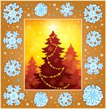 Christmas decorative greeting card 1 Royalty Free Stock Images