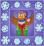 Christmas decorative greeting card 4 Royalty Free Stock Image