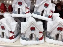 Christmas decorative houses Stock Images