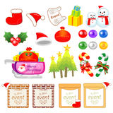 Christmas decorative Icons sets. Creative Icon Design Series. Royalty Free Stock Images