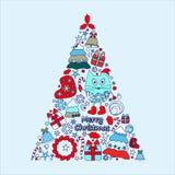 Christmas decorative isolated tree. stock  Stock Photo