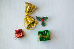 Christmas decorative items and objects Royalty Free Stock Photo