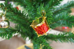 Christmas decorative items Royalty Free Stock Photos