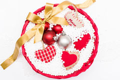 Christmas decorative objects Stock Photos