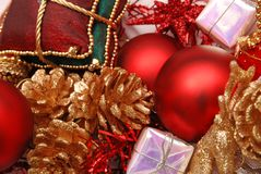 Christmas decorative ornaments Royalty Free Stock Image