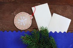 Christmas decorative paper jewelry Royalty Free Stock Photography