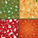 Christmas  decorative pattern of endless plane Stock Photo