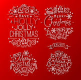 Christmas decorative red Royalty Free Stock Photo