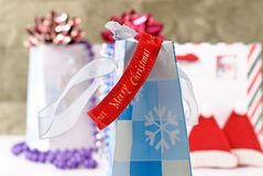 Christmas Decorative Ribbon Stock Photography