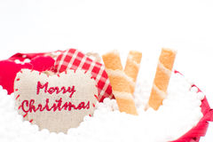 Christmas decorative ribbon Royalty Free Stock Image