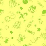 Christmas decorative seamless background. Vector illustration Royalty Free Stock Image