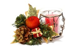 Christmas decorative set Royalty Free Stock Photos