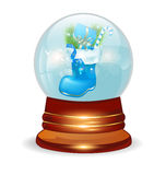 Christmas decorative snow ball Royalty Free Stock Photos
