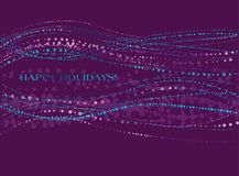 Christmas decorative snow wave on violet background color. Vector illustration with new year balls for xmas card, invitation, surface design Royalty Free Stock Photo