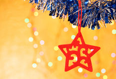 Christmas decorative star Royalty Free Stock Photography
