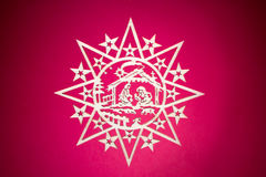 Christmas decorative star Royalty Free Stock Images