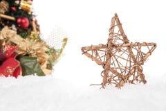 Christmas decorative star Stock Photos